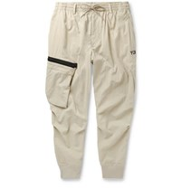 Y 3 Tapered Nylon Cargo Trousers Beige