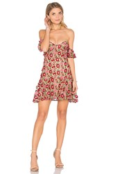 For Love And Lemons Amelia Strapless Mini Dress Red