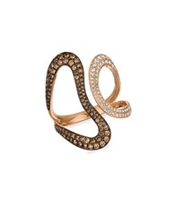 Levian Chocolate Diamond Vanilla Diamond Cognac Diamond And 14K Strawberry Gold Ring Rose Gold