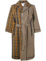 Hope Checked Belted Coat Neutrals