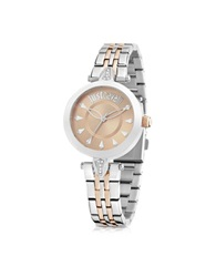 Just Cavalli Just Florence Two Tone Stainless Steel Women's Watch Silver