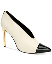 Calvin Klein Women's Saydee Pointed Toe Pumps Women's Shoes Soft White