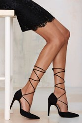 Nasty Gal The Mode Collective Olivia Lace Up Suede Pump