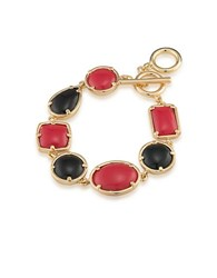 1St And Gorgeous Multi Shape Flex Toggle Bracelet Red Black Light Red And Black