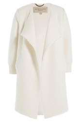 Burberry Brit Cape Cardigan With Wool Alpaca And Cashmere White