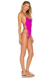 Indah Dusty Reversible Backless One Piece Swimsuit Purple