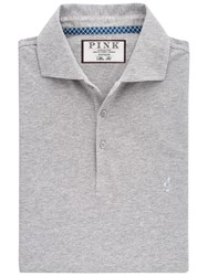 Thomas Pink Francis Plain Slim Fit Polo Shirt Grey
