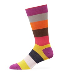 Duchamp Multicolor Striped Cotton Socks Gray