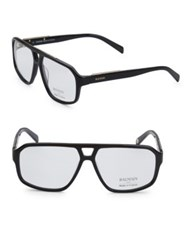 Balmain 59Mm Aviator Clear Eyeglasses Black