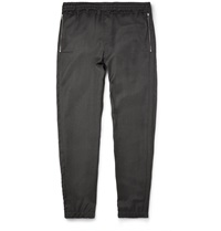 Tim Coppens Slim Fit Zip Detailed Woven Wool Sweatpants Gray