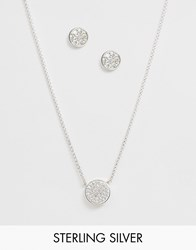 Thomas Sabo Sterling Silver Necklace And Earrings Set
