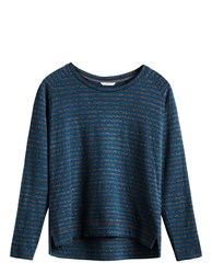 Sandwich Long Sleeve Stripe T Shirt Blue