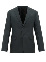 Prada Single Breasted Wool Blend Suit Green