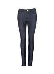 Victoria Beckham 'Powerhigh' Raw Denim Skinny Jeans Blue