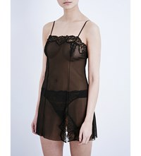 Wacoal Sheer Enough Lace Chemise Black