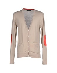 Daniele Alessandrini Knitwear Cardigans Men Light Grey