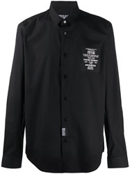 Versace Jeans Couture Logo Patch Relaxed Fit Shirt Black