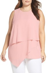 Vince Camuto Plus Size Women's Asymmetrical Tiered Blouse