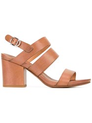 Buttero Block Heel Sandals Brown