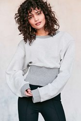 Silence And Noise Corset Pullover Sweatshirt Grey