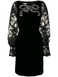 Marchesa Velvet Embellished Dress 60