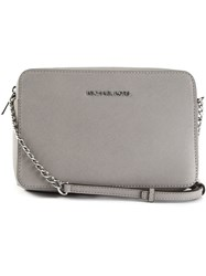 Michael Kors Collection 'Jet Set' Crossbody Bag Grey