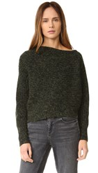 Alexander Wang Asymmertical Pullover Black And Forest
