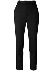 Etoile Isabel Marant Cropped Cigarette Trousers Black