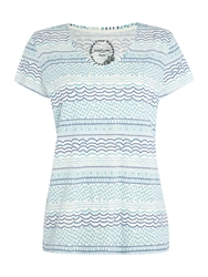 Dickins And Jones Squiggle Stripe Table Tee Blue