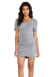 Monrow Granite Pocket T Dress Gray