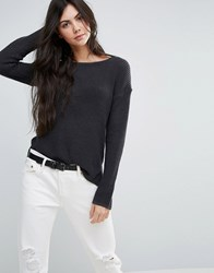 Levi's Textured Knit Jumper Dark Phantom Grey