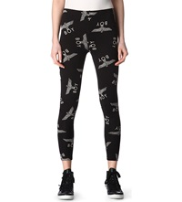 Boy London Eagle Jersey Leggings Black White
