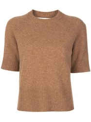 Victoria Beckham Half Raglan Sleeves Knitted Top 60