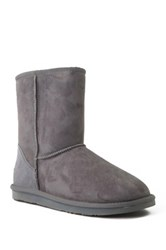 Australia Luxe Collective Cosy Short Genuine Sheepskin And Shearling Lining Boot Gray