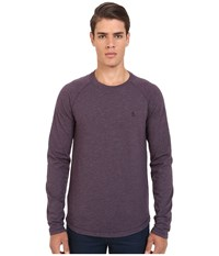 Original Penguin Long Sleeve Slub Baseball Nightshade Men's T Shirt Gray