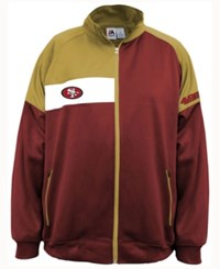 Majestic Men's San Francisco 49Ers Court Track Jacket Red