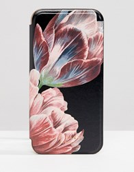 Ted Baker Tablet Iphone 8 Mirror Case In Tranquility Floral Black