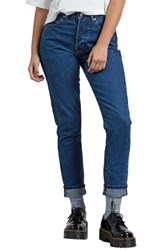 Volcom Super Stoned Skinny Jeans Used Blue