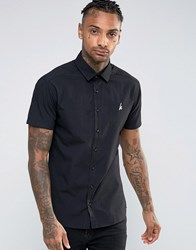 Hype Shirt With Logo In Skinny Fit Black