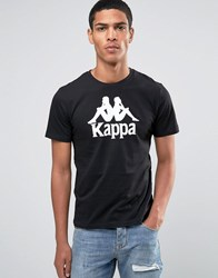 Kappa T Shirt With Large Logo Black