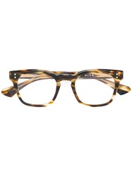 Dita Eyewear Mann Square Frame Glasses Brown