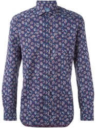 Barba Floral Pattern Shirt Multicolour