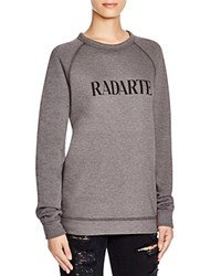 Rodarte Radarte Sweatshirt Charcoal With Black Text