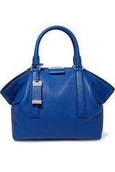 Michael Kors Collection Lexi Textured Leather Tote Royal Blue