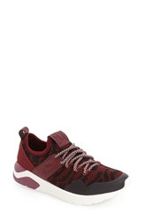 Fly London Women's 'Salo' Sneaker Red Knit Fabric