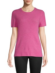 Saks Fifth Avenue Drop Shoulder Cashmere Tee Rose Heather