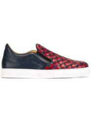 Mr. Hare 'Llewelyn Massai' Slip On Sneakers Blue