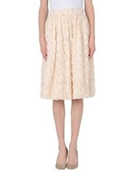 Bgn 3 4 Length Skirts Ivory