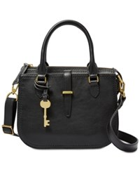 Fossil Ryder Mini Satchel Black Gold