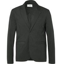 Folk Technical Cotton Blend Blazer Black